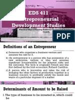 EDS411 Entrepreneural Finance