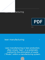 Value Stream Mapping-lean Manufacturing