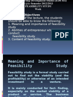 Lecture Note on Feasibility Study