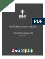 Reporte Mensual Nuevos Mercados Septiembre 2015