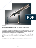 A Look at the Future of the Us Labor Force to 2060