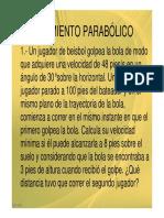 001 Problemas de Mov. Parabolico y Dinamica