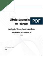 ##01 - POC Caracterização (Estrutura Química, Def. de Plást., Class.,Aspectos Gerais Int. Ind.; Obtenção)