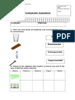 Evaluacion Ciencias Los Materiales