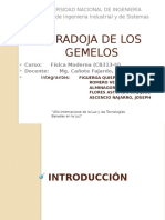 Ppts Paradoja de Los Gemelos