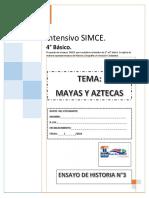 TEST HISTORIA SIMCE 4° BASICO N°3 Mayas y Aztecas