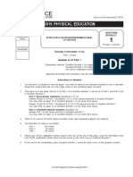 2015 physical education examination paper
