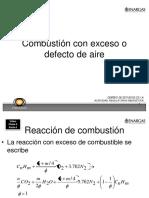 Clase 4 Combution Con Exceso o Defecto de Aire