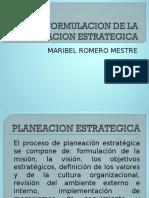 Formulacion de La Planeacion Estrategica
