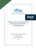 Metodologia Elaborar Un Manual de Organizacion