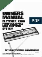 Fletcher 2100 Manual