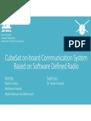 Cubesat On‐Board Communication System Based On Software