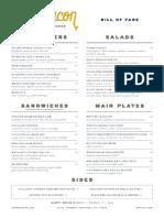 Sugarbacon menu
