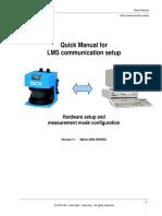 Quick Manual for LMS Communication Setup