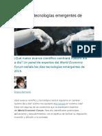 [Español]Las Diez Tecnologías Emergentes de 2015