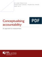 Conceptualising Accountability