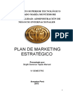 Plan de Marketing Estratégico Venta de Ropa