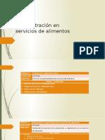 Clase 1Administración en Servicios de Alimentos