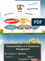 Characteristics of a Classroom Management