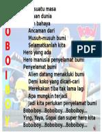 Lirik Lagu Boboiboy
