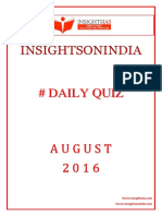 Daily Quiz Aug 2016
