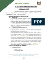 Memoria Descriptiva Caballococha - Copia (2)