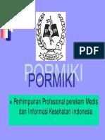 Kode Etik Pormiki perekam medis