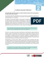 PERSPECTIVA DE CULTURA ESCOLAR LITERARIA  RHM2016