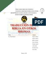 Trabajo Traduccion de La Biblia en Otros Idiomas