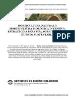 Horticultura Natural y Horticultura Biologica Intensiva