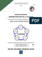 GUÍA DE ADMINISTRACIÓN DE LA CALIDAD SILVIA