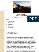 Leaving (Durga's group- Synopsis).pptx
