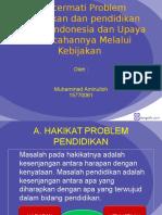 PROBLEMATIKA pendidikan