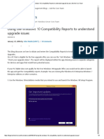 Using the Windows 10 Compatibility Reports