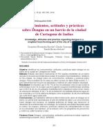 nivel de conocimiento en la prevencion del dengue