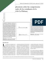 Estudio Exploratorio Sobre Las Competencias Informacionales de Los Estudiantes de La Universidad de La Habana