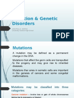 Lesson 3 - Mutation & Genetic Disorders