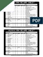 Army Sheet