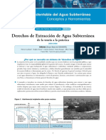 Derechos de Extraccion de Agua Subterranea