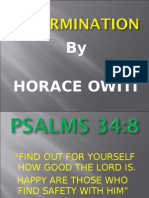Determination-Power point Horace