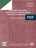 Lenguaje Del Derecho Enrique Caceres.