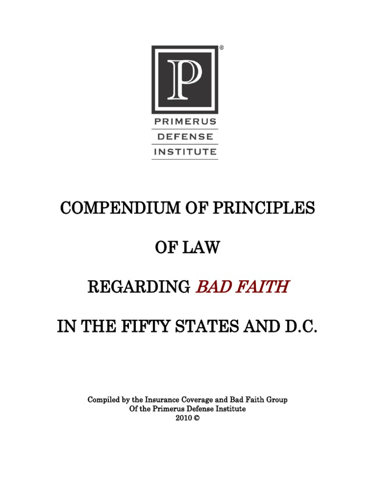 2010 bad faith insurance compendium insurance damages fandeluxe Image collections