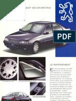 Peugeot 405 SR SRI SRdt