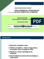 OPORTUNIDADES ECONÓMICAS, TECNOLÓGICAS Y DE EMPLEO EN EL ÁMBITO DE LA ENERGÍA (Garmendia)
