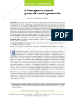 Del Hemograma Manual Al de Cuarta Generacion