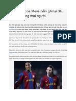 Đẳng Cấp Của Messi Vẫn Ghi Lại Dấu Ấn Trong Lòng Mọi Người