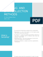 Sampling and Data Collection Methods