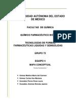 MAPA CONCEPTUAL Formas Farmacéuticas Equipo 4
