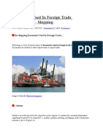 Documents Used in Foreign Trade Transactions