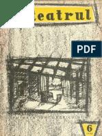 Revista Teatrul, nr. 6, anul III, iunie 1958
